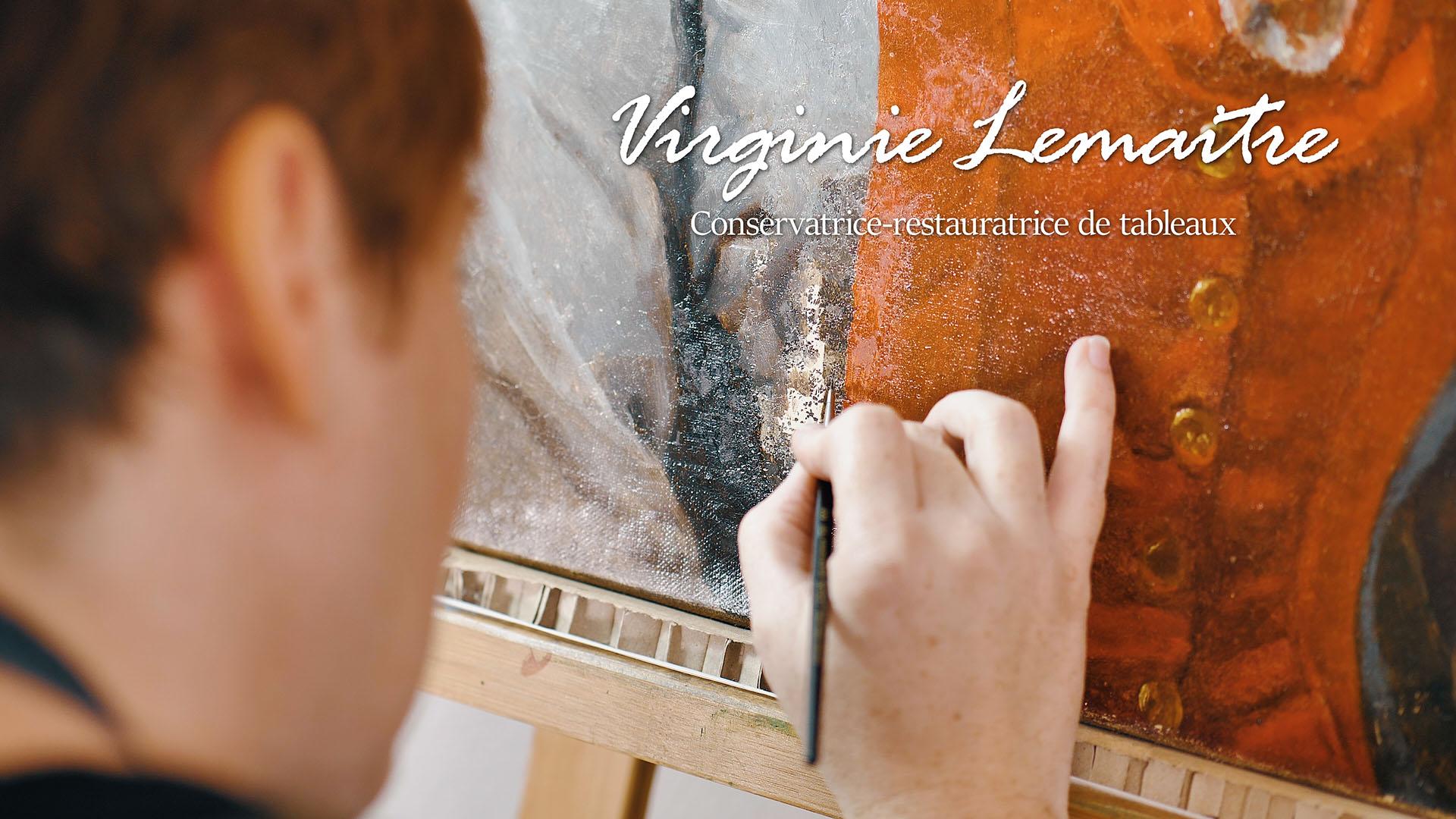 conservatrice-restauratrice de tableau virginie lemaitre
