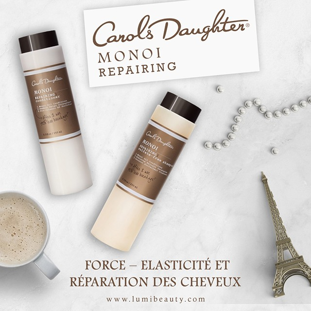 visuel pour lumibeauty produits carols daughter monoi repairing
