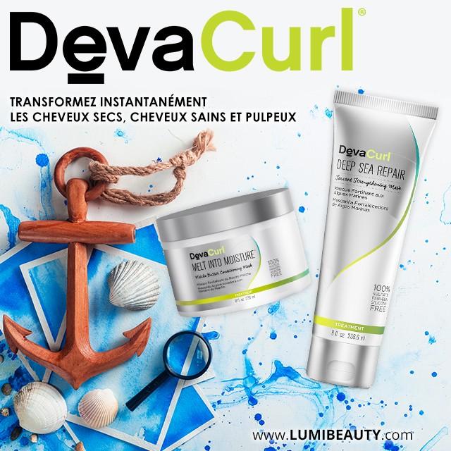 visuel pour lumibeauty produits devacurl cheveux secs